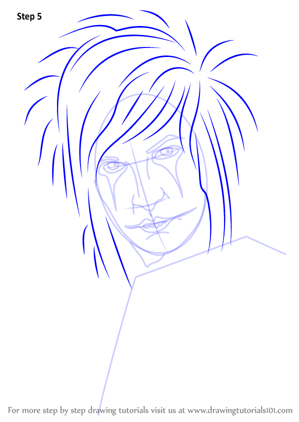 Learn How To Draw Jinxx Black Musicians Step By Step
