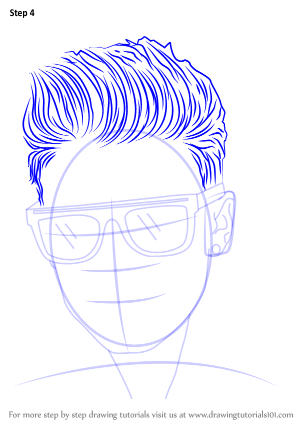 Learn How To Draw Justin Bieber With Sunglasses Musicians