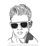 How to Draw Justin Bieber with Sunglasses