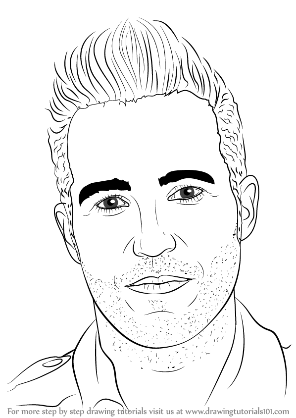 learn how to draw pete wentz musicians step by step