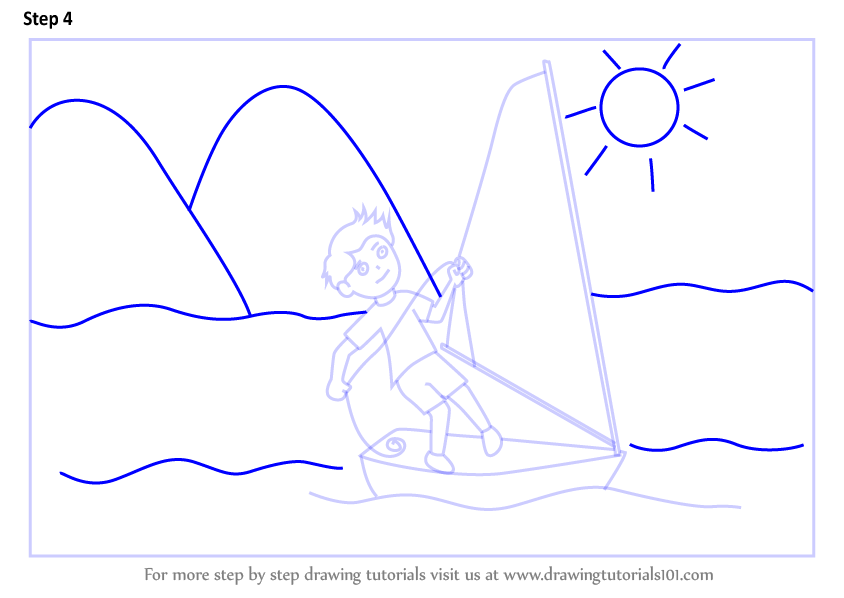 how to draw a sail
