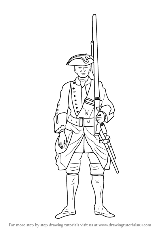 Learn How To Draw British Soldier Other Occupations Step