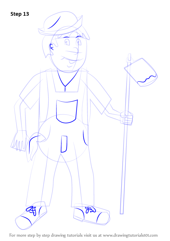 Learn How to Draw a Farmer for Kids (Other Occupations ...