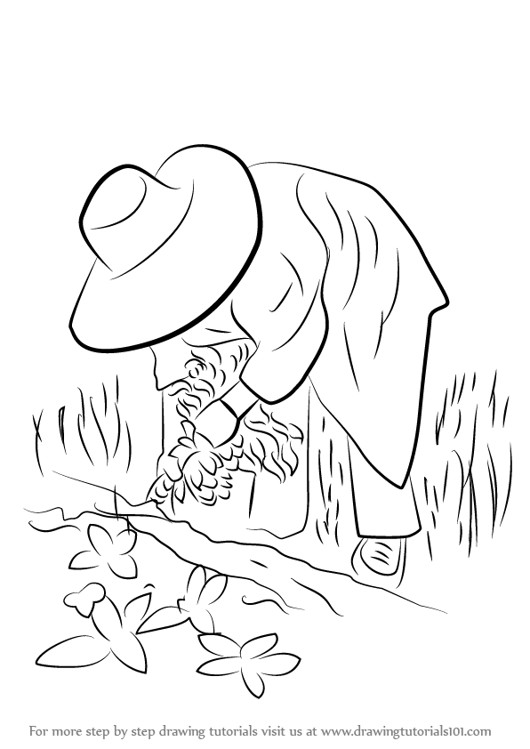 Learn How To Draw A Farmer In Action Other Occupations