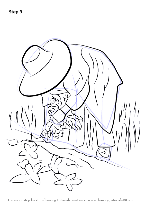 Step By Step How To Draw A Farmer In Action
