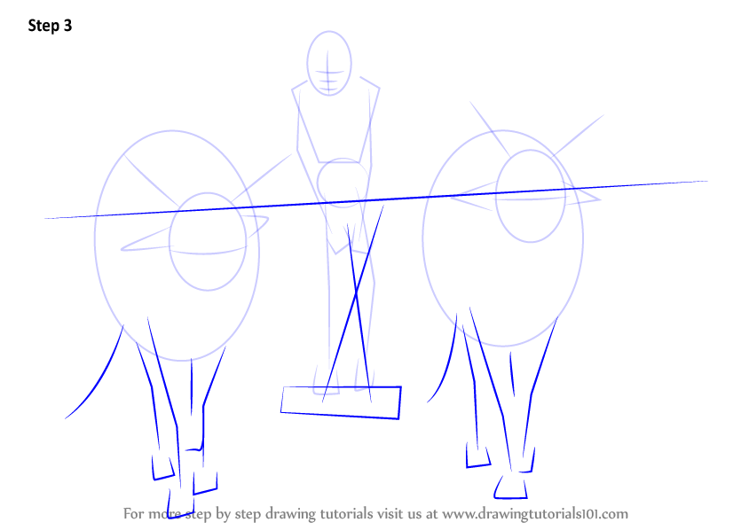 how to draw a farmer step by step