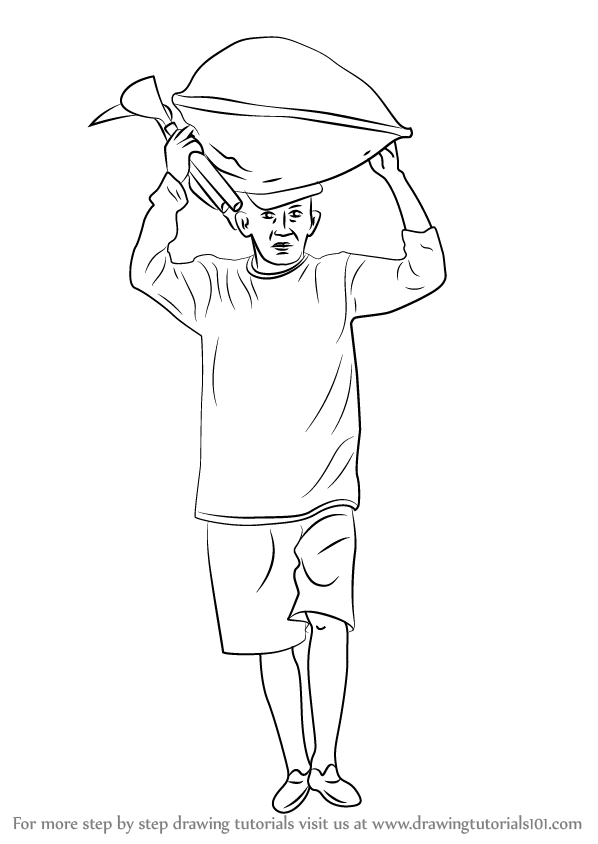 Learn How To Draw A Farmer Other Occupations Step By