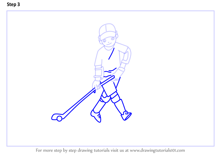 learn how to draw a hockey player scene  other occupations