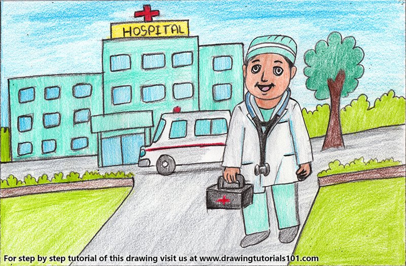 Hospital coloring page | Free Printable Coloring Pages | 525x800