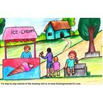 How to Draw an Ice Cream Seller