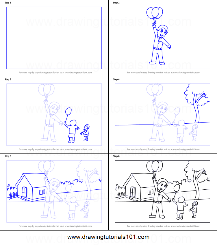 How to Draw a Balloon Man printable step by step drawing sheet