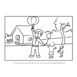 Learn How to Draw a Balloon Man (Other People) Step by Step