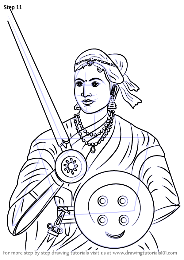 Learn How To Draw Rani Of Jhansi Other People Step By