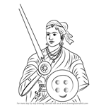 How to Draw Rani of Jhansi
