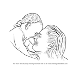 How to Draw Mother Holding Infant