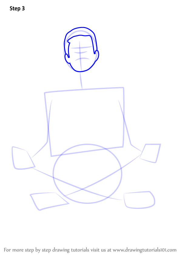 Learn How To Draw Person Meditating Other People Step By