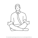How to Draw Person Meditating