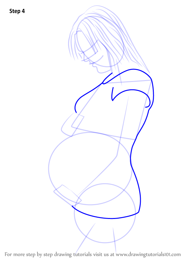 Learn How To Draw Pregnant Woman Other People Step By