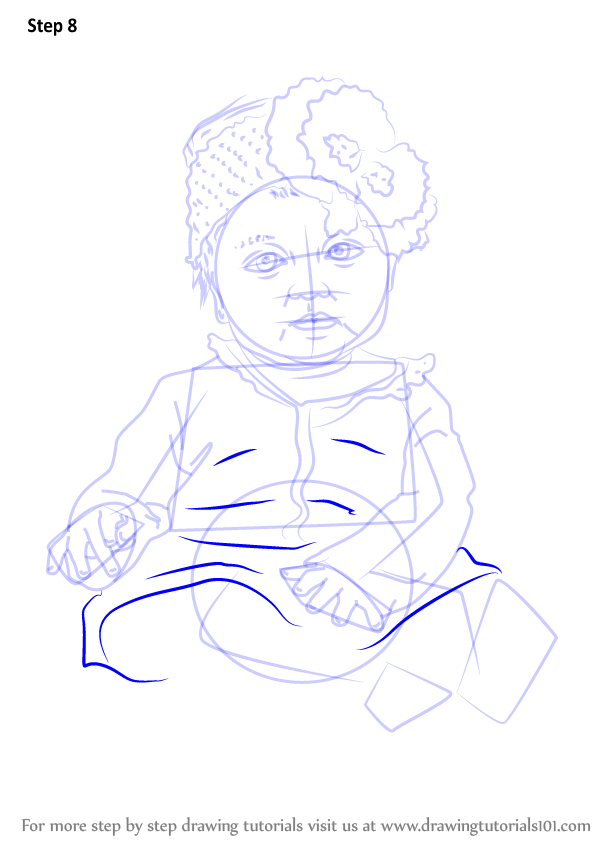 Learn How to Draw Sitting Baby Girl (Other People) Step by ...
