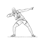 How to Draw Usain Bolt
