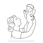 How to Draw a Women Holding Child