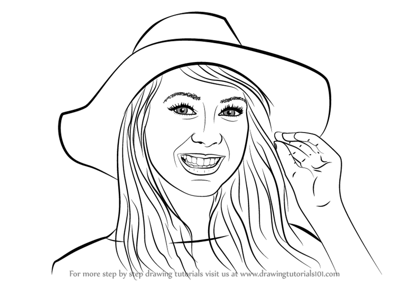 Learn How To Draw Zoella Other People Step By Step