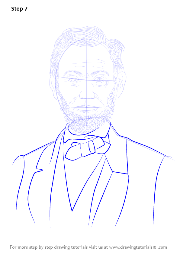 Learn How to Draw Abraham Lincoln (Politicians) Step by ...