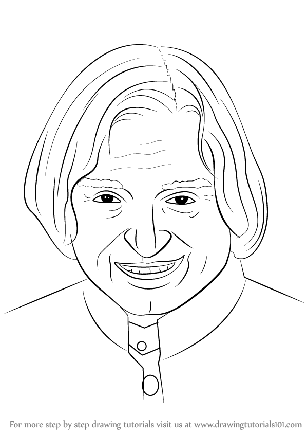 ... to Draw APJ Abdul Kalam (Politicians) Step by Step : Drawing Tutorials Pencil Drawing Pictures Of Flowers