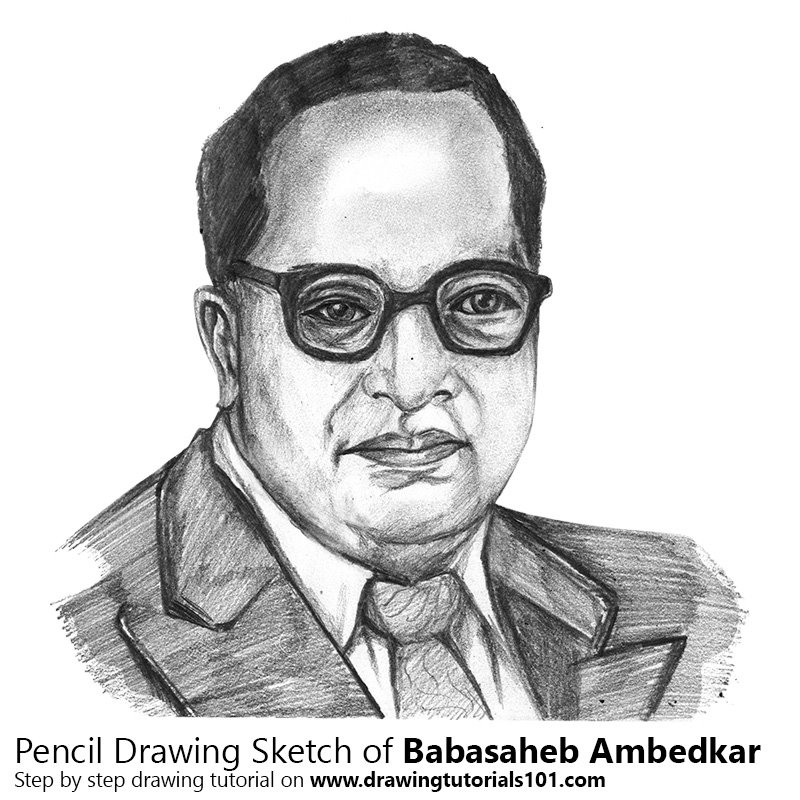 learn how to draw babasaheb ambedkar politicians step by step