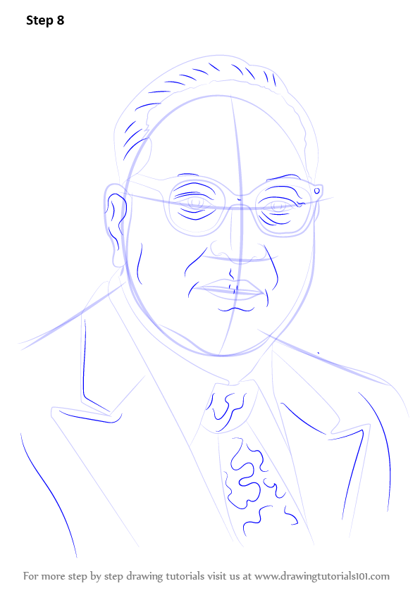 Learn How To Draw Babasaheb Ambedkar Politicians Step By