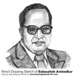 How to Draw Babasaheb Ambedkar