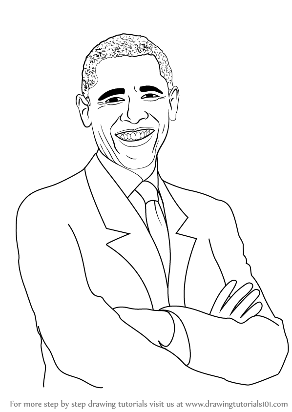 Learn How to Draw Barack Obama (Politicians) Step by Step ...