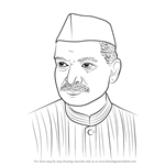 How to Draw Dr. Rajendra Prasad