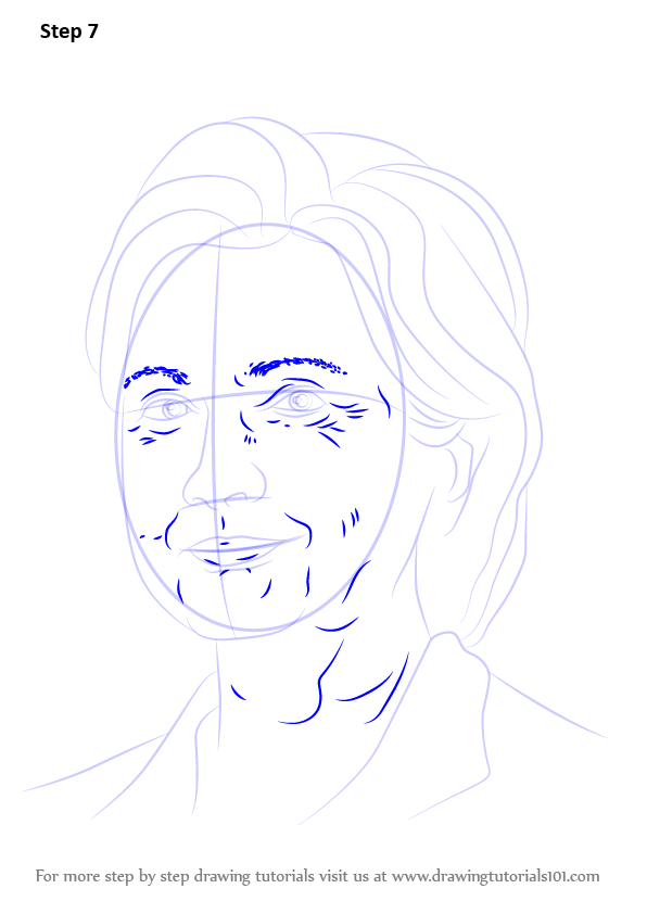 Lovely Learn How to Draw Hillary Clinton (Politicians) Step by Step  WJ17