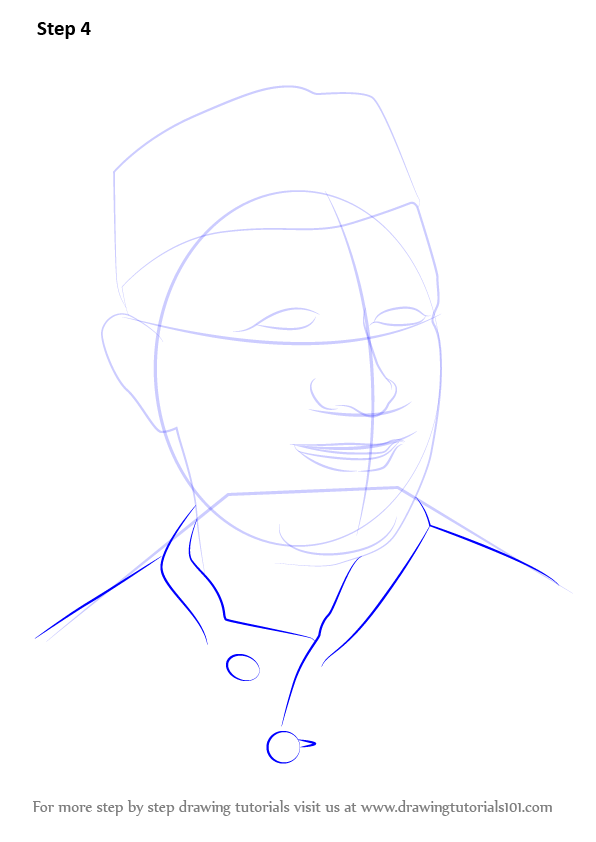 Step By Step Decorating Living Room: Learn How To Draw Jawaharlal Nehru (Politicians) Step By