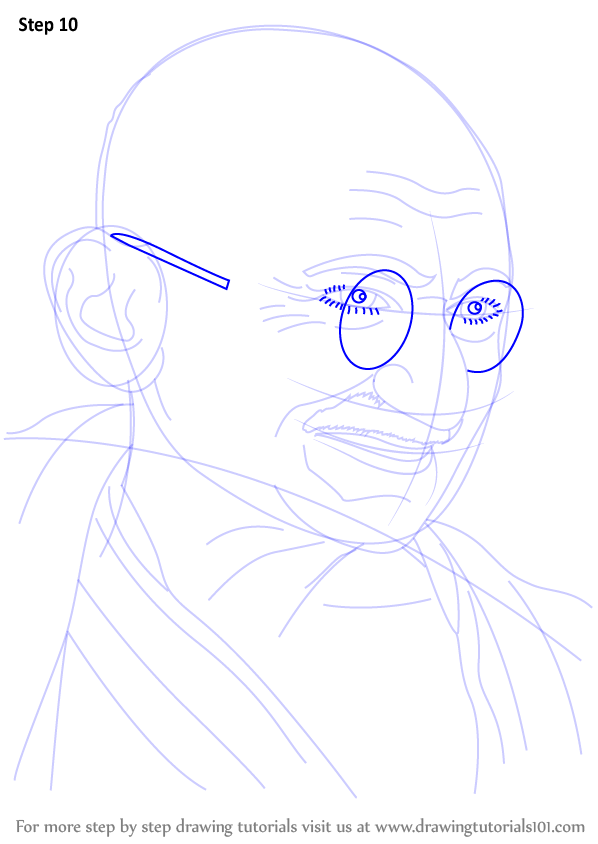 learn how to draw mahatma gandhi  politicians  step by