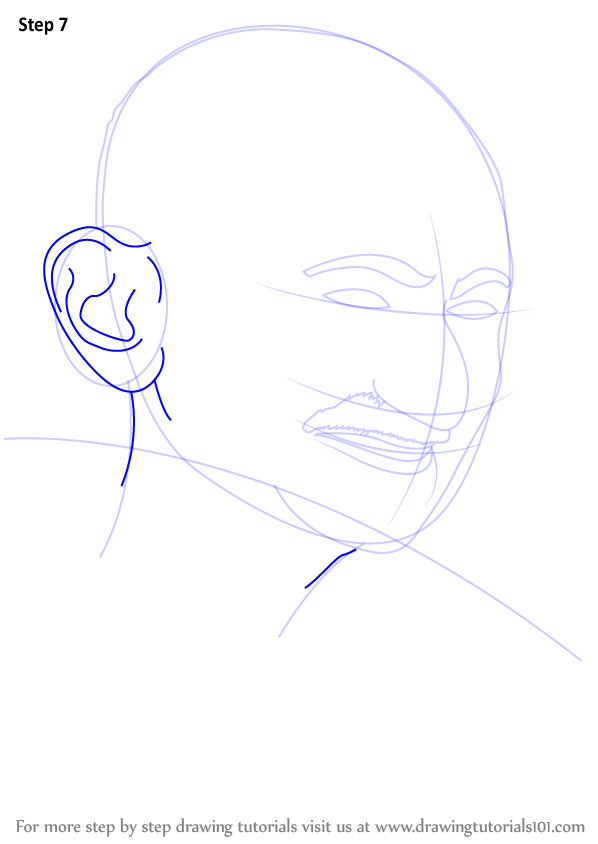Learn How To Draw Mahatma Gandhi Politicians Step By Step