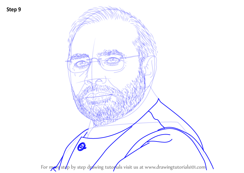 Step By Step How To Draw Narendra Modi