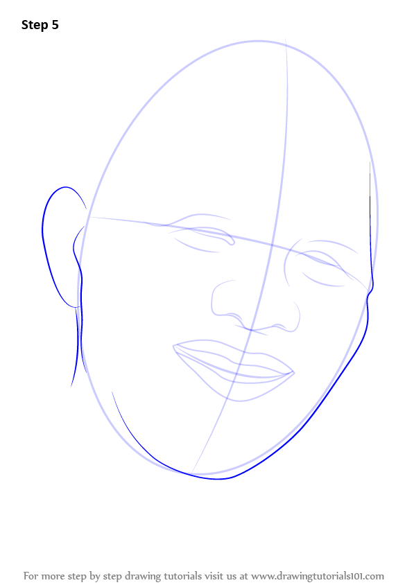 Learn how to draw nelson mandela face politicians step by step draw outlines for face ear ccuart Image collections