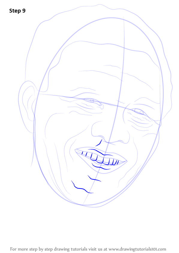 learn how to draw nelson mandela face politicians step by step