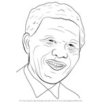 How to Draw Nelson Mandela Face