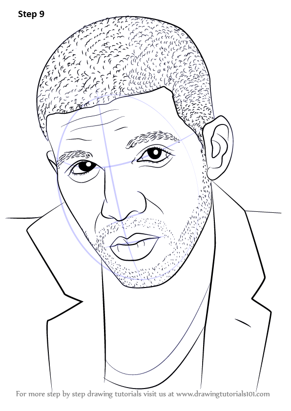Learn How To Draw Drake Rappers Step By Step Drawing