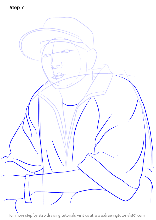 learn how to draw eminem  rappers  step by step   drawing