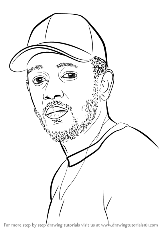 learn how to draw kendrick lamar rappers step by step