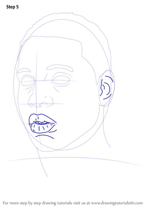 learn how to draw lil durk rappers step by step