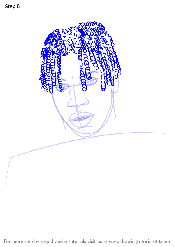 learn how to draw lil yachty  rappers  step by step   drawing tutorials