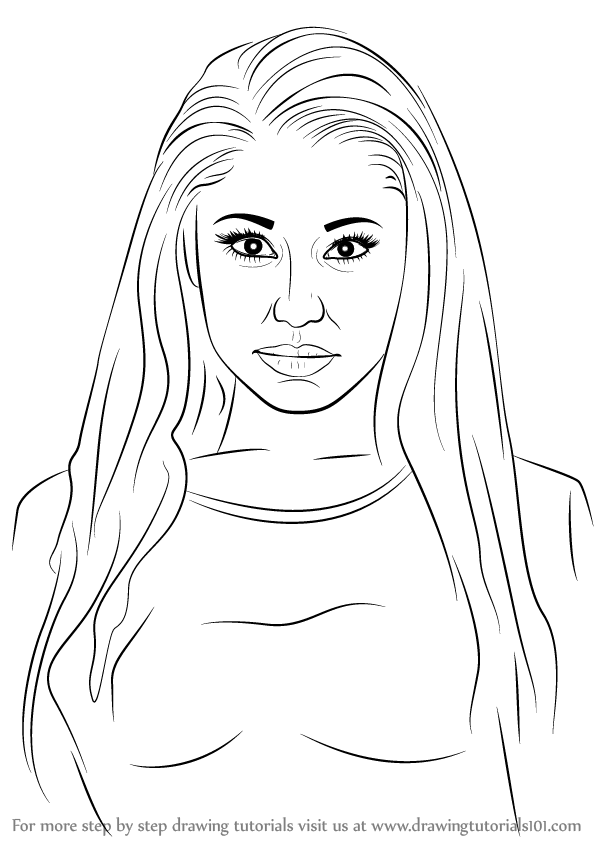 nicki minaj coloring pages for kids | Learn How to Draw Nicki Minaj (Rappers) Step by Step ...