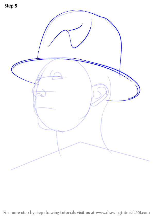 learn how to draw pharrell williams rappers step by step