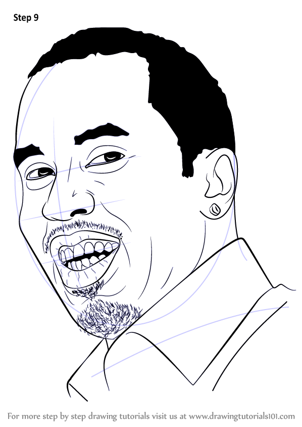 learn how to draw sean combs aka puff daddy  rappers  step