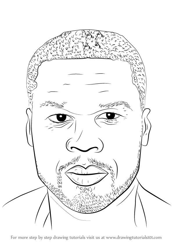 Learn How To Draw 50 Cent Singers Step By Step Drawing Tutorials